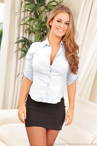 Irresistible Secretary Emma K In Black Underwear