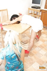 Lacey Hogtied To Desk By Alex Adams