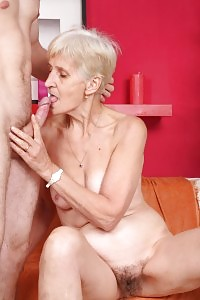 Granny Irene Enfolds Her Wrinkled Throat Around A Shaft And Gets A Wad Of Sexy Sperm In Her Eyes