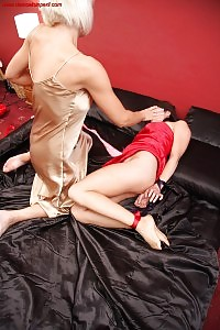 Jan Burton Play Naughty While Rebekah Dee Is Chained An