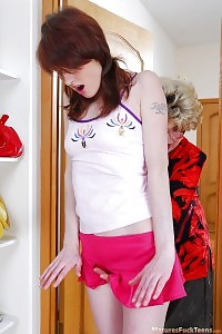 Delicious Young Maid Forced Into Muff Fingering By An Sexy Mom